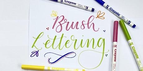 Kids & Adults Half Term Brush Lettering Workshop - Halifax tickets