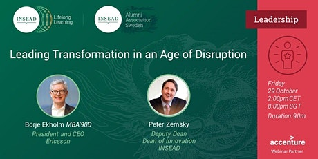 """""""Leading Transformation in an Age of Disruption"""" Tickets"""
