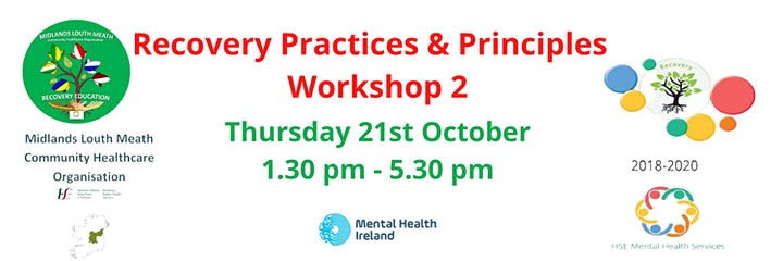 Recovery Practices and Principles Workshop 2 HSE CHO8 image