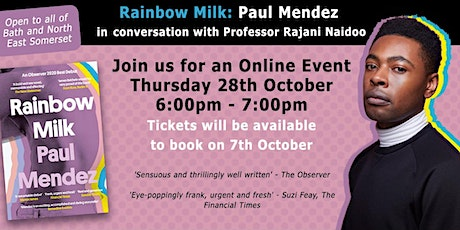 Online Author Event: Paul Mendez | UoB Library and BANES Council tickets