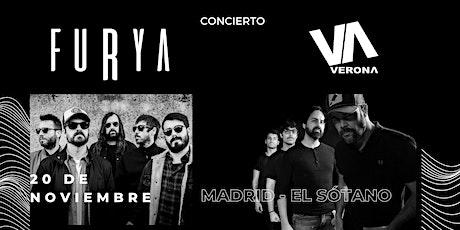 Furya  y Verona en  Madrid - Sala el Sótano entradas