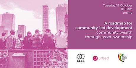 A roadmap for  community-led development tickets