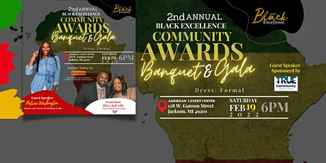 2nd Annual Black Excellence Community Awards Banquet & Gala tickets