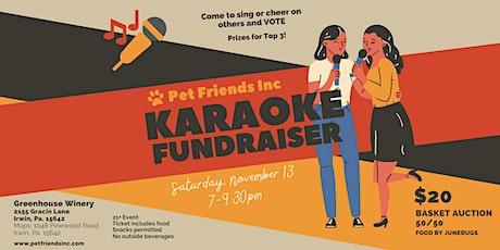 Pet Friends Karaoke Fundraiser tickets