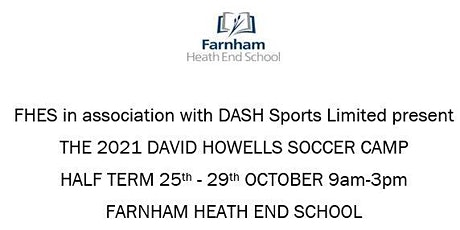 The 2021 David Howells soccer camp tickets