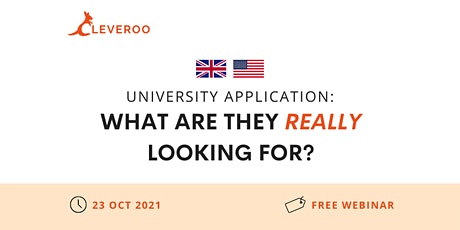 University Application: What are they really looking for? tickets