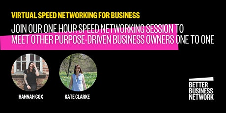 Speed Networking for Purpose Driven Businesses tickets