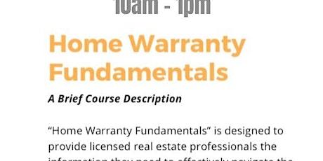 Home Warranty fundamentals tickets