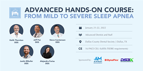 Advanced Hands-On Course: From Mild to Severe Sleep Apnea tickets