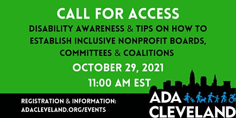 Disability Awareness & Tips on How To Establish Inclusive NonProfit Boards, tickets