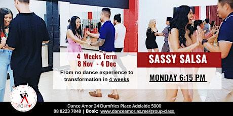 Sassy Salsa Beginners Dance Class Adelaide - Monday 6:15 PM tickets