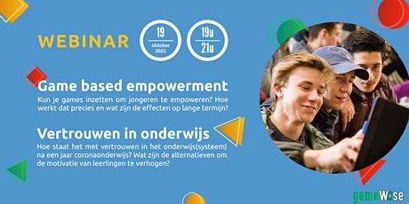 Webinar: game based empowerment en motivatie tickets