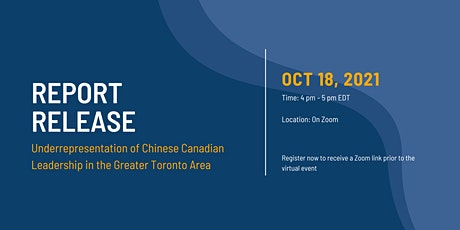 Report Release: Underrepresentation of Chinese Canadian Leadership in GTA tickets