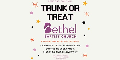 Trunk or Treat at Bethel! tickets