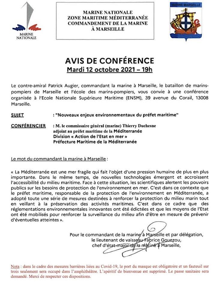 Image pour Conférence COMAR Marseille du 12 octobre 2021