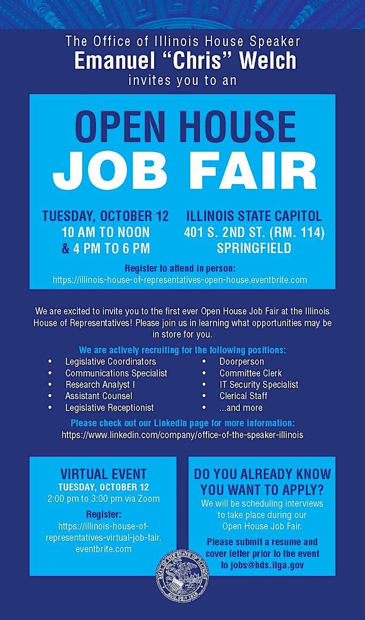 Illinois House of Representatives Virtual Job Fair image