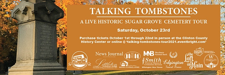 Talking Tombstones: A Live Historic Sugar Grove Cemetery Tour image