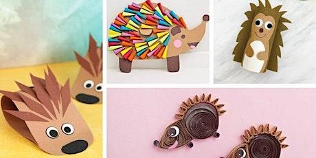 Hedgehog craft - Manualidad para niños menores de 9 años entradas