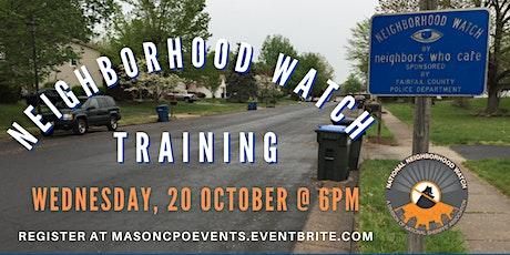 Neighborhood Watch Training tickets