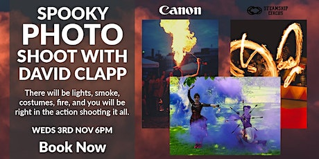 Spooky Low-Light Photo Shoot with Canon Photographer, David Clapp tickets