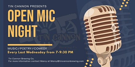 Open Mic Night at Tin Cannon Brewing Co. tickets