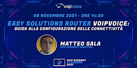 Easy Solutions Router:  Guida alla configurazione delle connettività biglietti