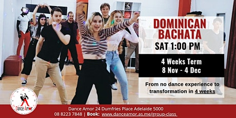 Dominican Bachata Beginners Dance Class Adelaide - Saturday 1:00 PM tickets