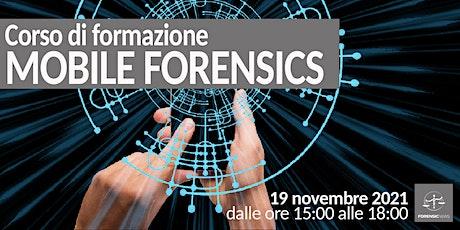 Mobile Forensics – Corso di formazione biglietti