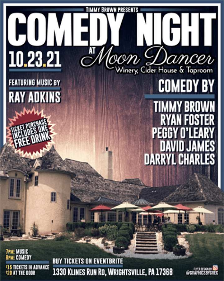 Comedy Night At Moon Dancer Winery image