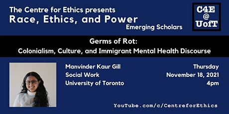 Germs of Rot: Colonialism, Culture, and Immigrant Mental Health Discourse tickets