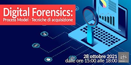 Digital Forensics –  Process Model e Tecniche di acquisizione biglietti