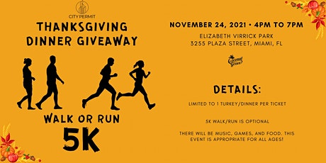 Pre-Turkey Day 5K (Coconut Grove) tickets
