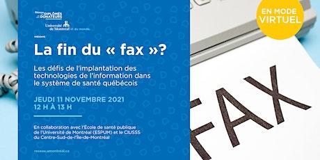 """Causerie : La fin du """"fax""""? billets"""