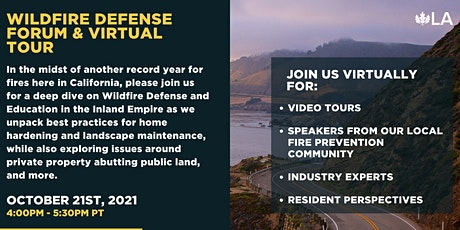 Wildfire Defense Forum and Virtual Tour tickets