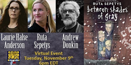 Ruta Sepetys with Laurie Halse Anderson and Andrew Donkin tickets