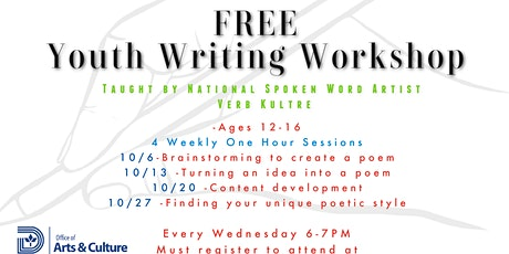 FREE Youth Writing Workshop Series tickets