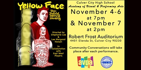 """AVPA/CTE  presents """"Yellow Face"""" in collaboration with East West Players tickets"""