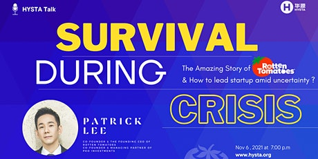 """""""Survival During Crisis""""  with  Former CEO of Rotten Tomatoes tickets"""