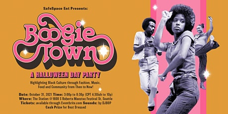"""Halloween 2021 Day Party : SafeSpace Ent. presents """"Boogie Town"""" tickets"""