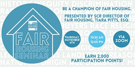 Fair Housing Seminar tickets