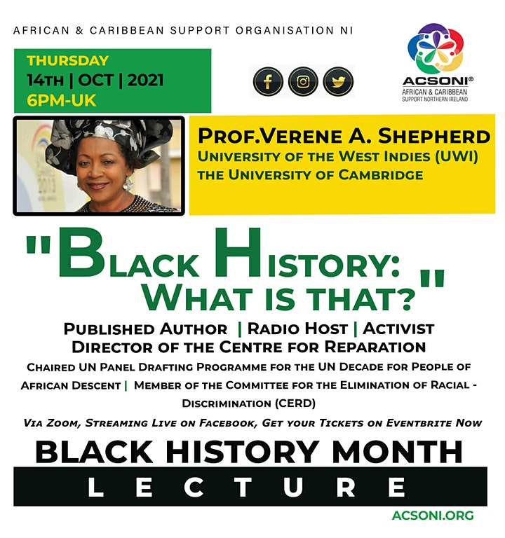 """Black History Month Lecture - """"Black History: What is that?"""" image"""