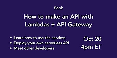 How to make a serverless API with lambdas and API Gateway tickets