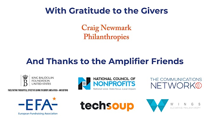 2021 GivingTuesday Summit: Givers and Friends Fest image