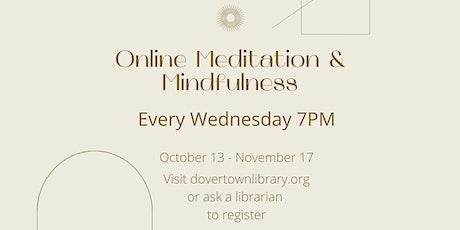 Online Meditation & Mindfulness tickets