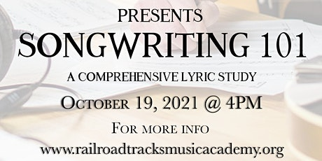 Railroad Tracks Music Academy Presents Songwriting 101 tickets
