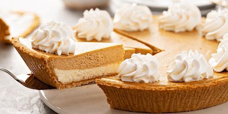 Holiday Baking: Pumpkin Cheesecake Pie tickets