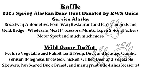 Wild Game Dinner and Raffle tickets