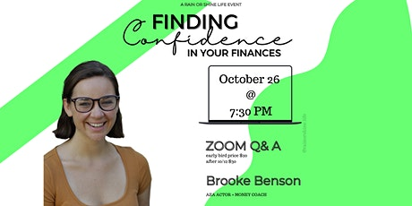 Finding Confidence In Your Finances tickets