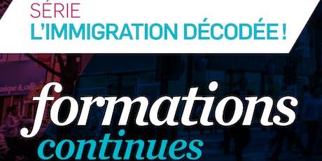 FORMATION CONTINUE  - PERMIS DE TRAVAIL TEMPORAIRE - Niveau 1 (PTT1) tickets