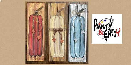 """Let's Paint and Enjoy at Tiki Lee's Dock Bar, Maryland """"Pumpkin"""" on wood tickets"""